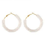 levne -Dámské Klasika Náušnice - Kruhy - Umělé diamanty Jednoduchý korejština Módní Šperky Bílá / Černá / Modrá Pro Párty Rande 1 Pair