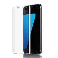 Недорогие Чехлы и кейсы для Galaxy S-Защитная плёнка для экрана для Samsung Galaxy S7 edge TPU 1 ед. Защитная пленка для экрана HD / Ультратонкий / 3D закругленные углы