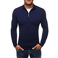 povoljno -Muškarci Dnevno Jednobojni Dugih rukava Regularna Pullover Crn / Tamno siva / Navy Plava XL / XXL / XXXL