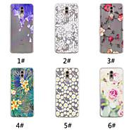 お買い得  携帯電話ケース-ケース 用途 Huawei P20 / P20 Pro パターン バックカバー フラワー ソフト TPU のために Huawei Nova 3i / Huawei P20 / Huawei P20 Pro