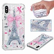 levne -Carcasă Pro Apple iPhone XR / iPhone XS Max Nárazuvzdorné / S plynem / Průhledné Zadní kryt Eiffelova věž / Třpytivý Měkké TPU pro iPhone XS / iPhone XR / iPhone XS Max