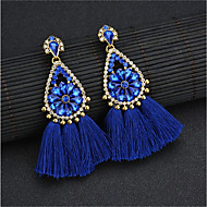 cheap -1 Pair Women's Blue Tassel Drop Earrings - Boho Jewelry Blue For Stage Holiday