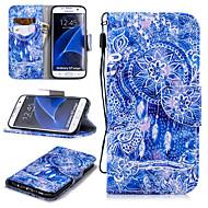Недорогие Чехлы и кейсы для Galaxy S7 Edge-Кейс для Назначение SSamsung Galaxy S7 edge Кошелек / Бумажник для карт / Защита от удара Чехол Ловец снов Твердый Кожа PU для S7 edge