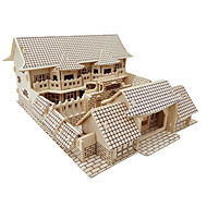 cheap Toy & Game-3D Puzzles Jigsaw Puzzle Wood Model Model Building Kit Famous buildings Chinese Architecture Architecture 3D DIY Simulation Wooden Wood