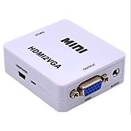 お買い得  -HDMI 1.4 アダプターケーブル, HDMI 1.4 に VGA アダプターケーブル メス―メス ショート(20cm以下)