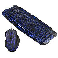 お買い得  -ケーブル マウスのキーボードコンボ キュート / 3Dカトゥーン / クール USBパワード オフィスキーボード ゲーミングマウス / オフィスマウス 5500 dpi 7 pcs