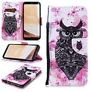 cheap -Case For Samsung Galaxy S8 Wallet / Card Holder / Shockproof Full Body Cases Owl Hard PU Leather for S8