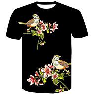 cheap -Men's Basic / Street chic T-shirt - Color Block Print