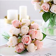 זול -פרחים מלאכותיים 1 ענף קלאסי חתונה / פרחי חתונה ורדים פרחים לשולחן