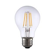 お買い得  -GMY® 1個 4 W 350 lm E26 / E27 フィラメントタイプLED電球 A19 4 LEDビーズ COB 装飾用 温白色 120 V