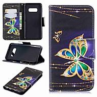 Недорогие Чехлы и кейсы для Galaxy S8-Кейс для Назначение SSamsung Galaxy S9 Plus / S8 Plus Кошелек / Бумажник для карт / со стендом Чехол Бабочка Твердый Кожа PU для S9 / S9 Plus / S8 Plus