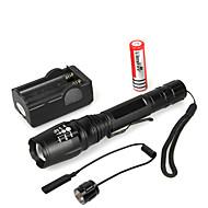 LED svítilny LED Cree® XM-L T6 1 Vysílače 1000 lm 5 Režim osvětlení s baterií a nabíječkou Zoomovatelné Voděodolné Multifunkční