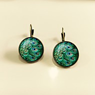 cheap -1 Pair Women's Classic Stud Earrings - Peacock Classic Jewelry Gold / Silver For Daily Stage