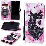 Недорогие Чехлы и кейсы для Galaxy S9-Кейс для Назначение SSamsung Galaxy S9 Кошелек / Бумажник для карт / Защита от удара Чехол Сова Твердый Кожа PU для S9