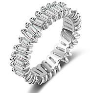 levne -Dámské Band Ring Měď Fashion Ring Šperky Stříbrná Pro Svatební Párty Zásnuby 6 / 7 / 8 / 9