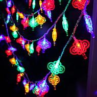 tanie -5 m Łańcuchy świetlne 40 Diody LED Wiele kolorów Dekoracyjna 220-240 V 1 zestaw