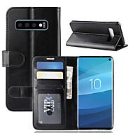 ケース 用途 Samsung Galaxy ギャラクシーS10 / Galaxy S10 E ウォレット / カードホルダー / スタンド付き フルボディーケース ソリッド ハード PUレザー のために S9 / S9 Plus / ギャラクシーS10