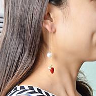 levne -Dámské Ozdobný Visací náušnice - Perly Jahody Módní Cute Style Šperky Červená Pro Denní Rande 1 Pair