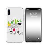 economico -Custodia Per Apple iPhone XS / iPhone XR Fantasia / disegno Per retro Piante / Cartoni animati Morbido TPU per iPhone XS / iPhone XR / iPhone XS Max