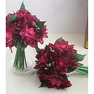 お買い得  -人工花 6 ブランチ クラシック ウェディングブーケ 田園 スタイル 菊の花 テーブルトップフラワー