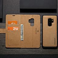 ราคาถูก -WHATIF Case สำหรับ Samsung Galaxy S9 Plus Wallet / Card Holder / with Stand ตัวกระเป๋าเต็ม สีพื้น Hard TPU สำหรับ S9 Plus