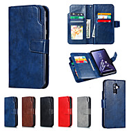 cheap -Nillkin Case For Samsung Galaxy A8 Plus 2018 / A6 (2018) Wallet / Card Holder / with Stand Full Body Cases Solid Colored Hard PU Leather for A5(2018) / A6 (2018) / A6+ (2018)