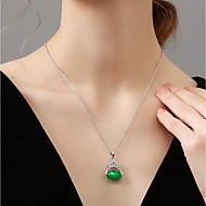 お買い得  -女性用 ネックレス アジア風 ダークグリーン 40+5 cm ネックレス ジュエリー 1個 用途 誕生日 贈り物 バレンタイン