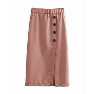 זול -Houndstooth - חצאיות גזרת A בסיסי בגדי ריקוד נשים