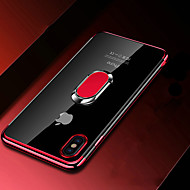 Funda Para Apple iPhone XR / iPhone XS Max Cromado / Soporte para Anillo / Transparente Funda Trasera Un Color Suave TPU para iPhone XS / iPhone XR / iPhone XS Max