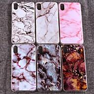 Etui Käyttötarkoitus Apple iPhone XS Max IMD Takakuori Geometrinen printti / Marble Pehmeä TPU varten iPhone XS / iPhone XR / iPhone XS Max