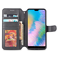 cheap -Nillkin Case For Huawei P20 Pro / P20 lite Card Holder / with Stand Full Body Cases Solid Colored Hard PU Leather for Huawei P20 / Huawei P20 Pro / Huawei P20 lite