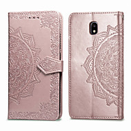 cheap -Case For Samsung Galaxy J7 (2017) Card Holder / Flip Full Body Cases Solid Colored Soft PU Leather for J7 (2017)