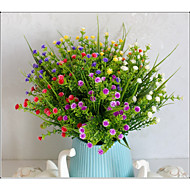 cheap -Artificial Flowers 5 Branch Classic Stage Props Pastoral Style Plants Baby Breath Eternal Flower Tabletop Flower