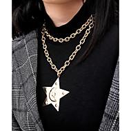 Χαμηλού Κόστους -Γυναικεία Κρεμαστά Κολιέ Κρεμαστό πολυεπίπεδη Κολιέ Ρομαντικό Κομψό Χρυσό Ασημί 35.5 cm Κολιέ Κοσμήματα 1pc Για Δώρο Καθημερινά Βραδινό Πάρτυ Ημερομηνία Φεστιβάλ
