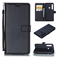 cheap -Nillkin Case For Samsung Galaxy A8 2018 / Galaxy A9(2018) Card Holder / with Stand Full Body Cases Solid Colored Hard PU Leather for A5(2018) / A6 (2018) / A6+ (2018)