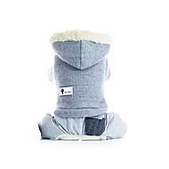 economico -Prodotti per cani Cappottini Completi Abbigliamento per cani Tinta unita Grigio Rosa Felpato Costume Per Corgi Beagle Bulldog Autunno Inverno Per maschio Per femmina Casual Top caldi