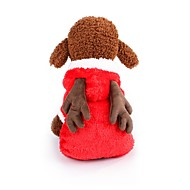 economico -Prodotti per cani Costumi Cappottini Abbigliamento per cani Monocolore Personaggio Marrone Rosso Rosa 100% pile corallo Costume Per Corgi Beagle Bulldog Autunno Inverno Per maschio Per femmina Casual