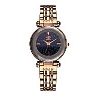 cheap -Women's Wrist Watch Quartz Stainless Steel Black / Blue / Brown Water Resistant / Waterproof Creative Analog Vintage - Brown Blue Rose Gold