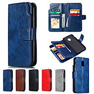 cheap -Nillkin Case For Samsung Galaxy J3(2016) / Galaxy J4(2018) Wallet / Card Holder / with Stand Full Body Cases Solid Colored Hard PU Leather for J8 (2018) / J7 (2017) / J7 (2018)