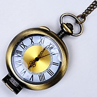 זול -בגדי ריקוד גברים שעון כיס קווארץ ברונזה עיצוב חדש שעונים יום יומיים מגניב אנלוגי הגעה חדשה מינימליסטי - ברונזה