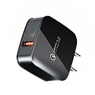 preiswerte -USB-Ladegerät SR-701US Stecker zu einer Buchse Schreibtisch Ladestation LCD Anzeige / Neues Design / Mit Smart Identification US Stecker Ladeadapter