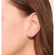 저렴한 -여성용 스터드 귀걸이 S925 스털링 실버 귀걸이 단순한 단 보석류 화이트 제품 생일 선물 일상 애인 1 쌍