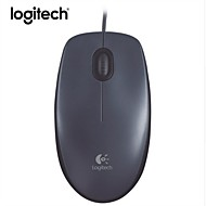 abordables -Logitech m90 corded mouse - mouse usb con cable para computadoras y laptops, para uso con la mano derecha o izquierda