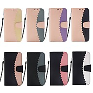 Χαμηλού Κόστους -tok Για Samsung Galaxy S9 Plus / S8 Πορτοφόλι / Θήκη καρτών / με βάση στήριξης Πλήρης Θήκη Πλακάκι Σκληρή PU δέρμα για S9 / S9 Plus / S8 Plus