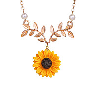 Γυναικεία Κρεμαστά Κολιέ Απομίμηση Μαργαριταριού Ηλιοτρόπιο Ευρωπαϊκό Γλυκός Μοντέρνα Απίθανο Χρυσό Ασημί Χρυσό Τριανταφυλλί 51+5 cm Κολιέ Κοσμήματα 1pc Για Καθημερινά Δρόμος Αργίες Εξόδου Φεστιβάλ