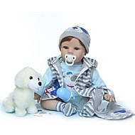 ราคาถูก -NPKCOLLECTION Reborn Dolls เด็กผู้ชาย 24 inch ไวนิล - ของขวัญ ทำด้วยมือ การปลูกถ่ายประดิษฐ์ตาสีฟ้า เด็ก ทุกเพศ Toy ของขวัญ