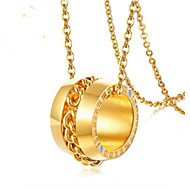 זול -בגדי ריקוד נשים קלאסי שרשראות תליון פלדת על חלד מספר אופנתי חמוד זהב 45 cm שרשראות תכשיטים 1pc עבור מתנה יומי