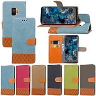 Χαμηλού Κόστους -tok Για Samsung Galaxy S9 Plus / S8 Plus Θήκη καρτών / με βάση στήριξης / Ανοιγόμενη Πλήρης Θήκη Μονόχρωμο / Γεωμετρικά σχήματα Σκληρή Υφασμα για S9 / S9 Plus / S8 Plus