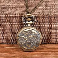 billige -Herre Lommeure Quartz Bronze Afslappet Ur Stor urskive Analog Vintage Mode - Bronze