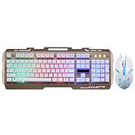 levne -LITBest 700 USB kabel Myš klávesnice Combo Herní / Zářící barvy Herní klávesnice / Membránová klávesnice Hraní her / Svítící / Voděodolný Gaming Mouse 1600 dpi